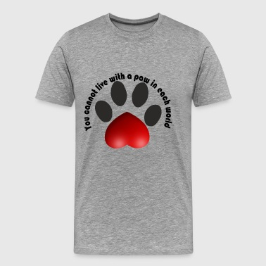Cat paw awesome t-shirt - Men's Premium T-Shirt