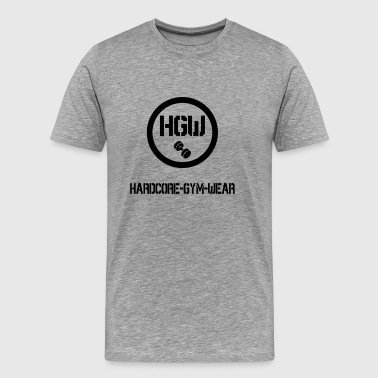 HARDCORE GYM WEAR Logo - Men's Premium T-Shirt