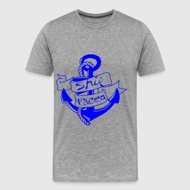 Ship Faced Anchor  - Men's Premium T-Shirt