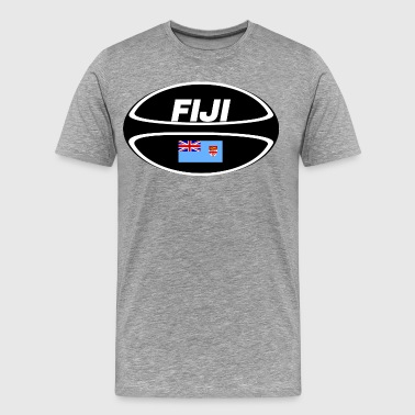 Fiji Flag Rugby Ball - Men's Premium T-Shirt