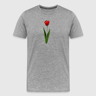 Red Tulip Illustration - Men's Premium T-Shirt