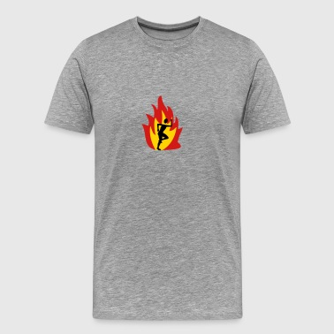 Runner flame - Men's Premium T-Shirt