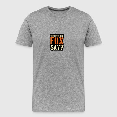 What Does The Fox Say Stamp Logo - Men's Premium T-Shirt