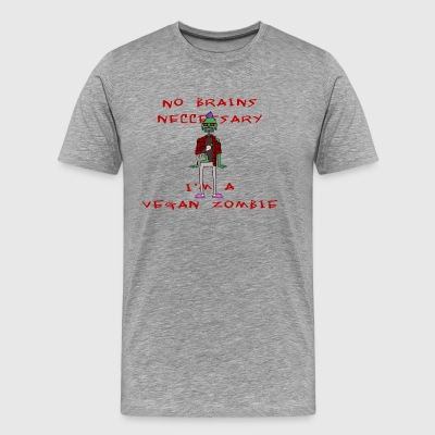 Vegan zombie - Men's Premium T-Shirt