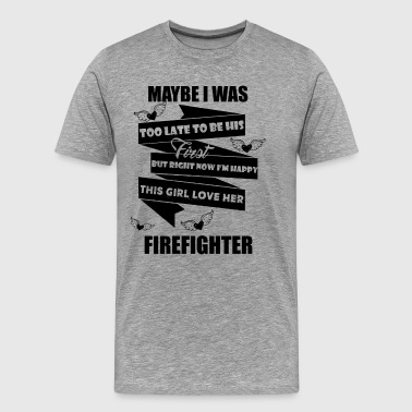 This Girl Love Her Firefighter Shirt - Men's Premium T-Shirt