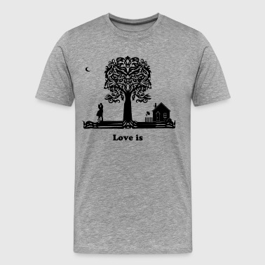 Hugging A Tree Love Tree - Men's Premium T-Shirt