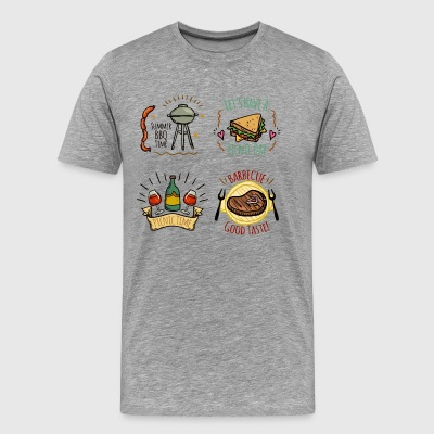 Labels Free BBQ - Men's Premium T-Shirt