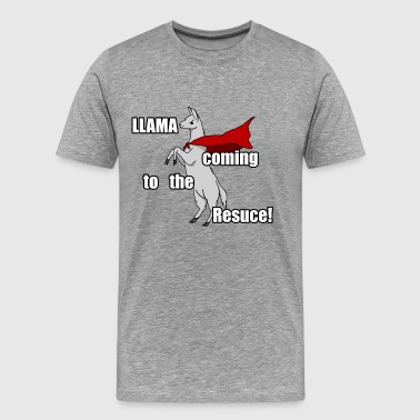 Llama Coming to the Rescue - Men's Premium T-Shirt