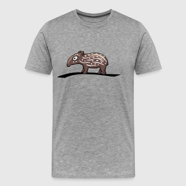 tapir baby child partnershirt funny comic gift - Men's Premium T-Shirt