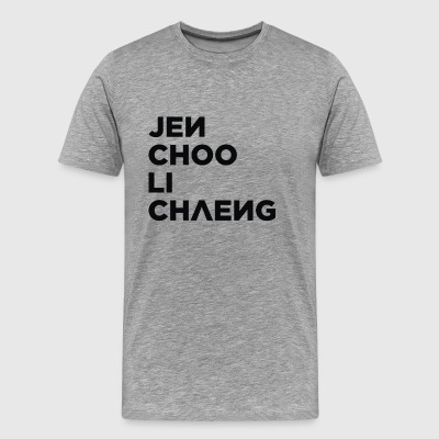 JenChooLiChaeng Descending, BLACKPINK (Black) - Men's Premium T-Shirt