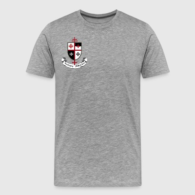 CHURCH MILITANT SHIELD AND BANNER - Men's Premium T-Shirt