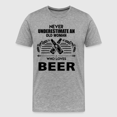 Woman Who Loves Beer Shirt - Men's Premium T-Shirt
