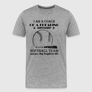 Player Softball Team Coach Shirt - Men's Premium T-Shirt