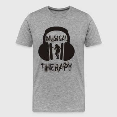 Musical Therapy Funny T Shirt - Men's Premium T-Shirt