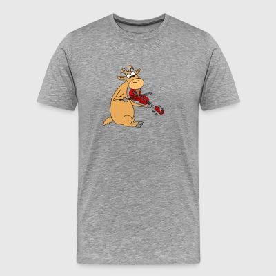 Awesome Funny Goat Playing The Fiddle - Men's Premium T-Shirt