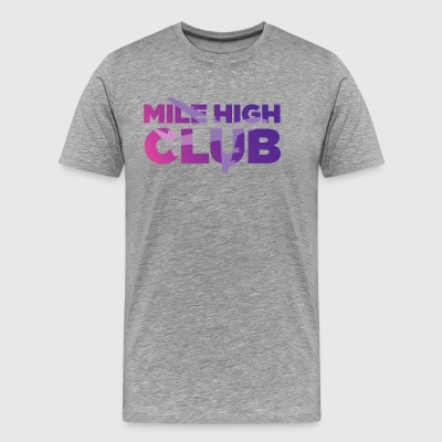mile high club gradient - Men's Premium T-Shirt