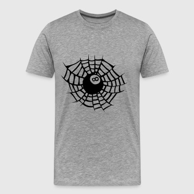 billiard cloth spider web - Men's Premium T-Shirt