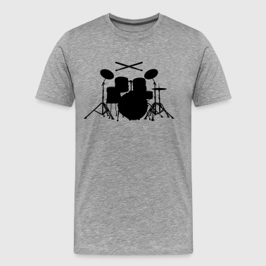 Drums with sticks  - Men's Premium T-Shirt