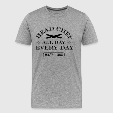 Head Chef All Day Every Day - Men's Premium T-Shirt
