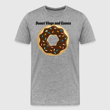 Donut Vlogs and Games - Men's Premium T-Shirt