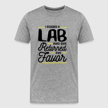 Rescued a Lab She Returned the Favor Gift - Men's Premium T-Shirt