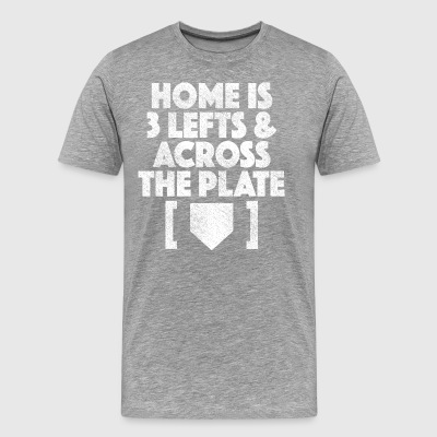 Real Baseball Players Take Three Lefts and Cross H - Men's Premium T-Shirt