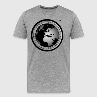 Black And Abroad Official Wheel & Globe Hoodie - Men's Premium T-Shirt