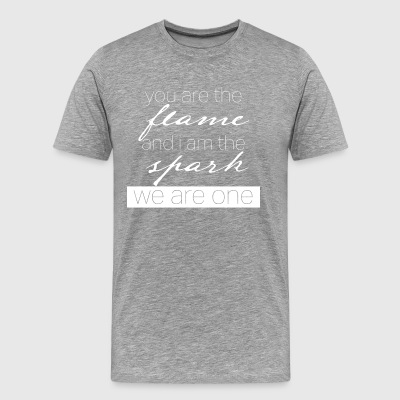 you are the flame and i am the spark - Men's Premium T-Shirt