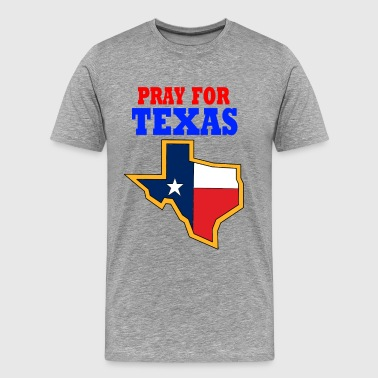 Dave The Cat Pray For Texas - Men's Premium T-Shirt