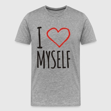 I Love Myself Funny Slogan - Men's Premium T-Shirt
