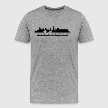 Cleveland The North Shore with Stadium - Men's Premium T-Shirt