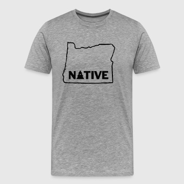 Native Oregonian with Tree - Men's Premium T-Shirt