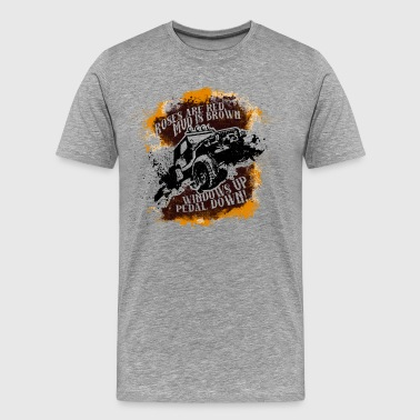 Roses Are Red, Mud Is Brown - Jeep Shirt - Men's Premium T-Shirt