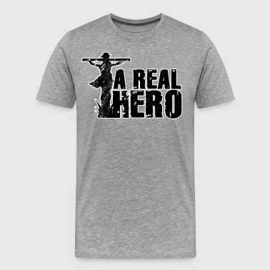 Christian Gift A Real Hero - Men's Premium T-Shirt