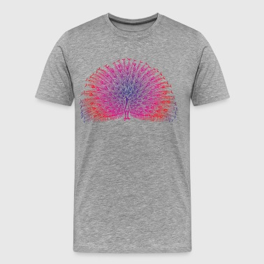 Bright Colorful Peacock - Men's Premium T-Shirt