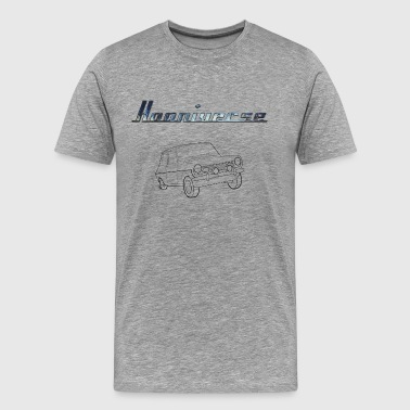 Clean Hooniverse Logo with Car - Men's Premium T-Shirt