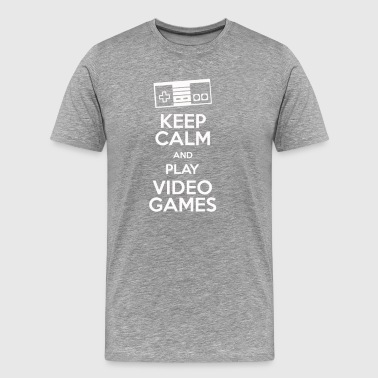 Keep Calm And Play Videogames - Men's Premium T-Shirt