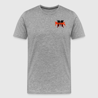 Metatoxic over Logo - Men's Premium T-Shirt