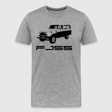 FJ55 BLACK LINE ART WITH LABEL - Men's Premium T-Shirt