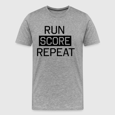 Run Score. Repeat - Men's Premium T-Shirt