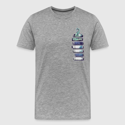 BREATHE INSIDE USED CIGARETTES WITH YOGA BEING - Men's Premium T-Shirt