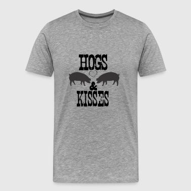Hogs & Kisses - Men's Premium T-Shirt