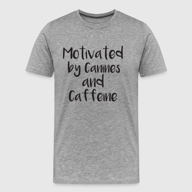 Canines and Caffeine - Men's Premium T-Shirt