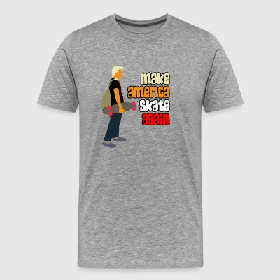 Make America Skate Again Trump Skater Shirt - Men's Premium T-Shirt