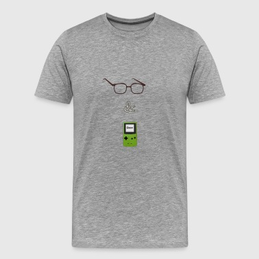 Jake and Amir Glasses GB - Men's Premium T-Shirt