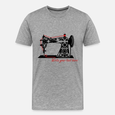 Sewing An antique sewing machine - Men's Premium T-Shirt
