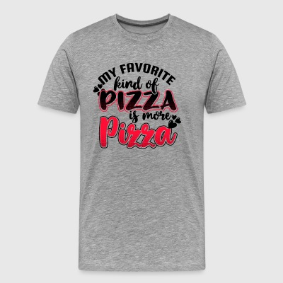 My favorite kind of pizza is more pizza - Men's Premium T-Shirt