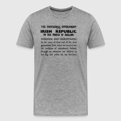 Irish 1916 Proclamation - Men's Premium T-Shirt