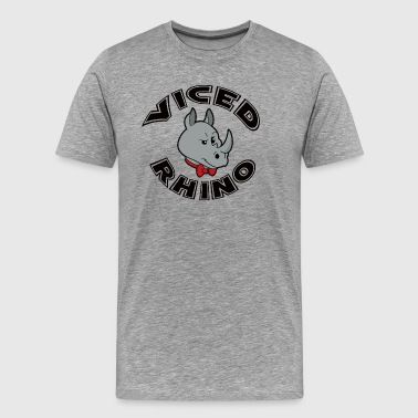 Viced Rhino Logo - Men's Premium T-Shirt