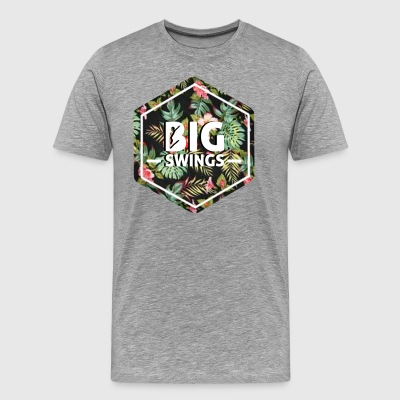 Big Swings Floral Design - Men's Premium T-Shirt